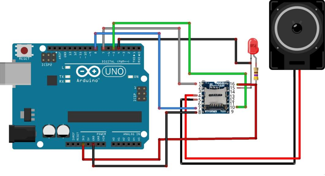 Схема звукового модуля