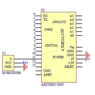 Схема подключения ИК-пульт дистанционного управления