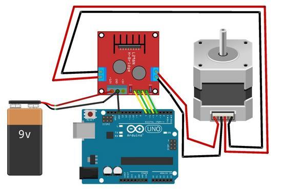 Контроллер шаговый двигатель l298n