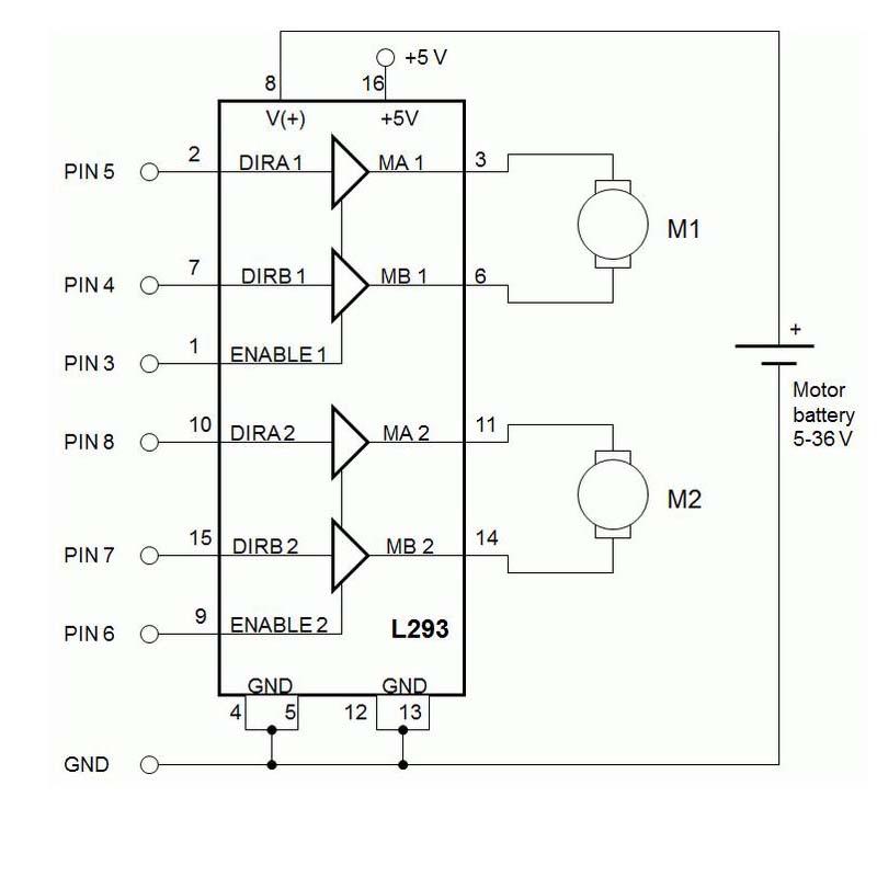 L293e схема включения