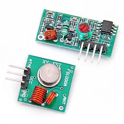 Передатчик и приемник в диапазоне RF 433 Mhz